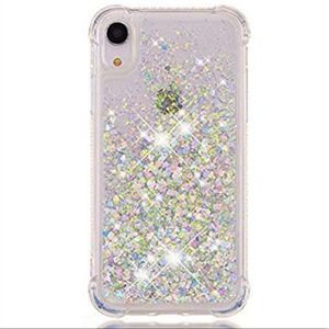 Accessories - For IPhone XR Floating Glitter Shockproof Case